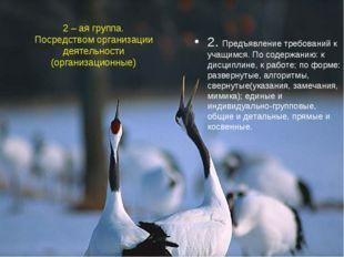 2 – ая группа. Посредством организации деятельности (организационные) 2. Пред