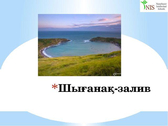 Шығанақ-залив