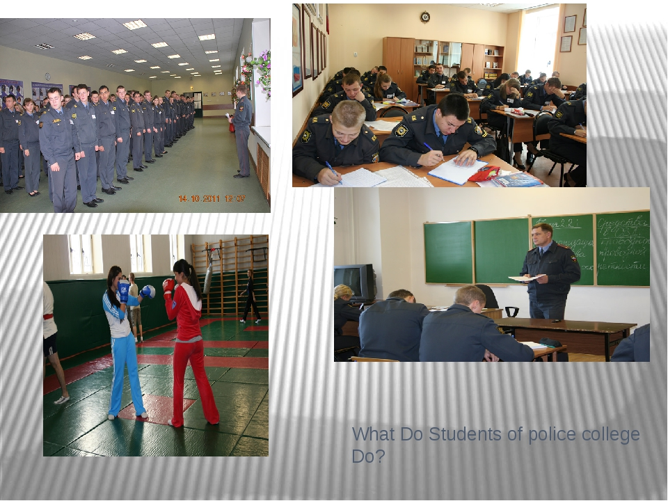 What Do Students of police college Do? My Working Day
