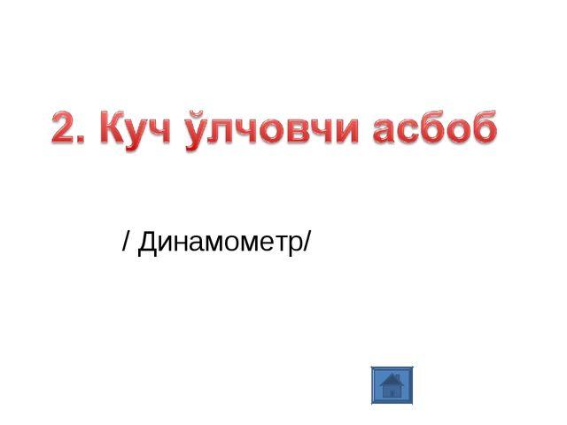 / Динамометр/