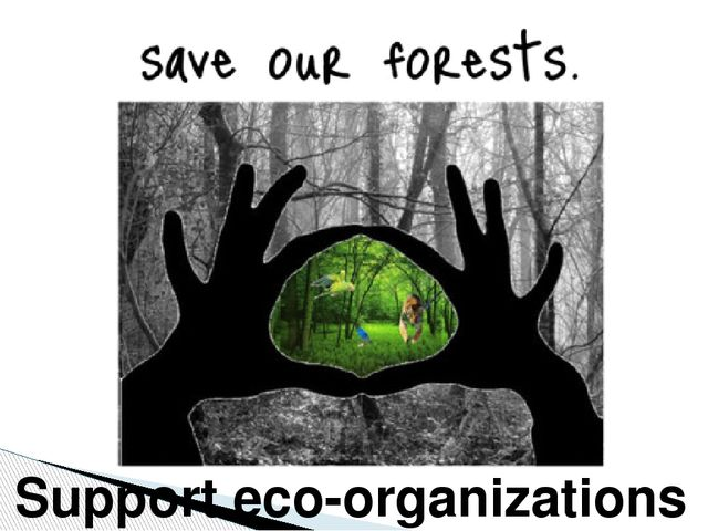 Support eco-organizations