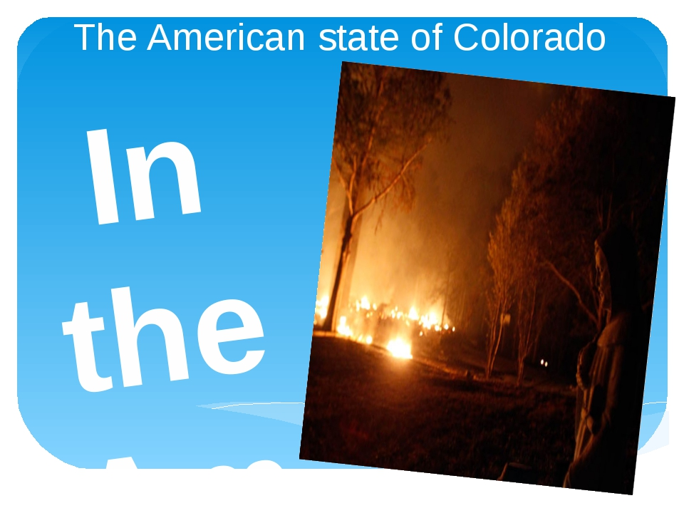 The American state of Colorado In the American state of Colorado through natu...