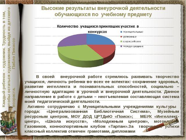 Высокие результаты внеурочной деятельности обучающихся по учебному предмету В...