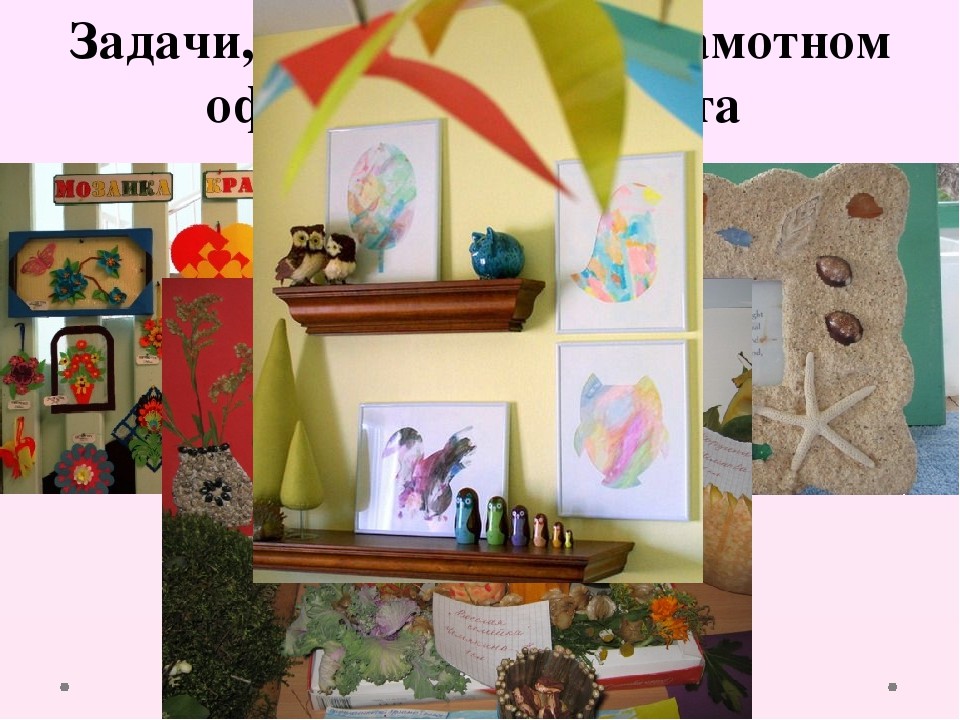 Задачи, решаемые при грамотном оформлении кабинета 5. Возможности творческого...