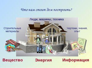 Что нам стоит дом построить? Строительные материалы Люди, машины, техника Чер