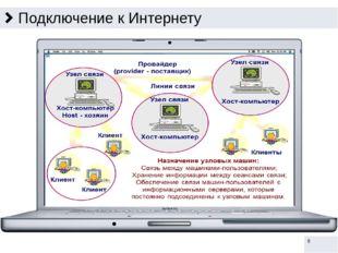 Передача информации в Интернете Информация в Интернете передаётся с помощью а