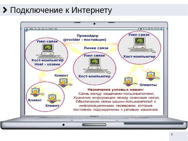 Передача информации в Интернете Информация в Интернете передаётся с помощью а...