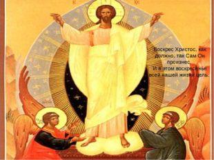 Воскрес Христос, как должно, так Сам Он произнес. И в этом воскресенье всей