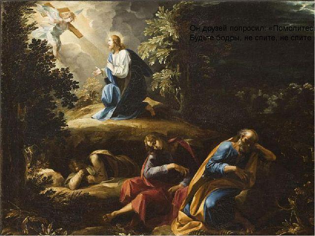 Он друзей попросил: «Помолитесь со Мною! Будьте бодры, не спите, не спите се...
