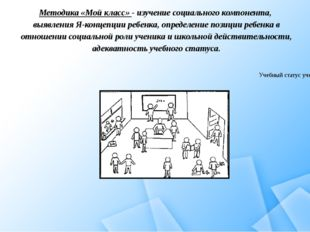 Методика «Мой класс» - изучение социального компонента, выявления Я-концепции