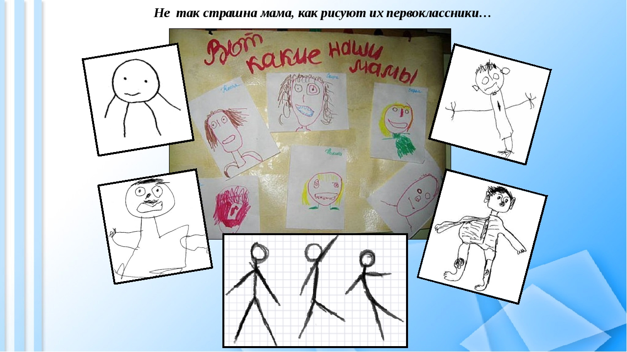 Не так страшна мама, как рисуют их первоклассники…