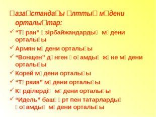 """Қазақстандағы ұлттық мәдени орталықтар: """"Тұран"""" әзірбайжандардың мәдени ортал"""