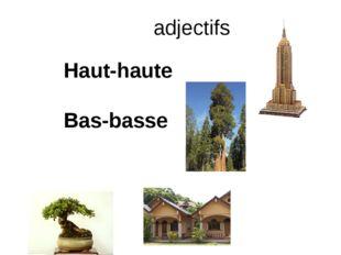 adjectifs Haut-haute Bas-basse