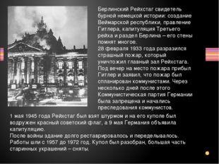 Берлинский Рейхстаг свидетель бурной немецкой истории: создание Веймарской ре