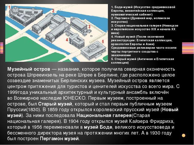 Пергамский музей В последней трети XIX века бурная деятельность немецких архе...