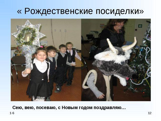« Рождественские посиделки» 1-6 * Сею, вею, посеваю, с Новым годом поздравляю…