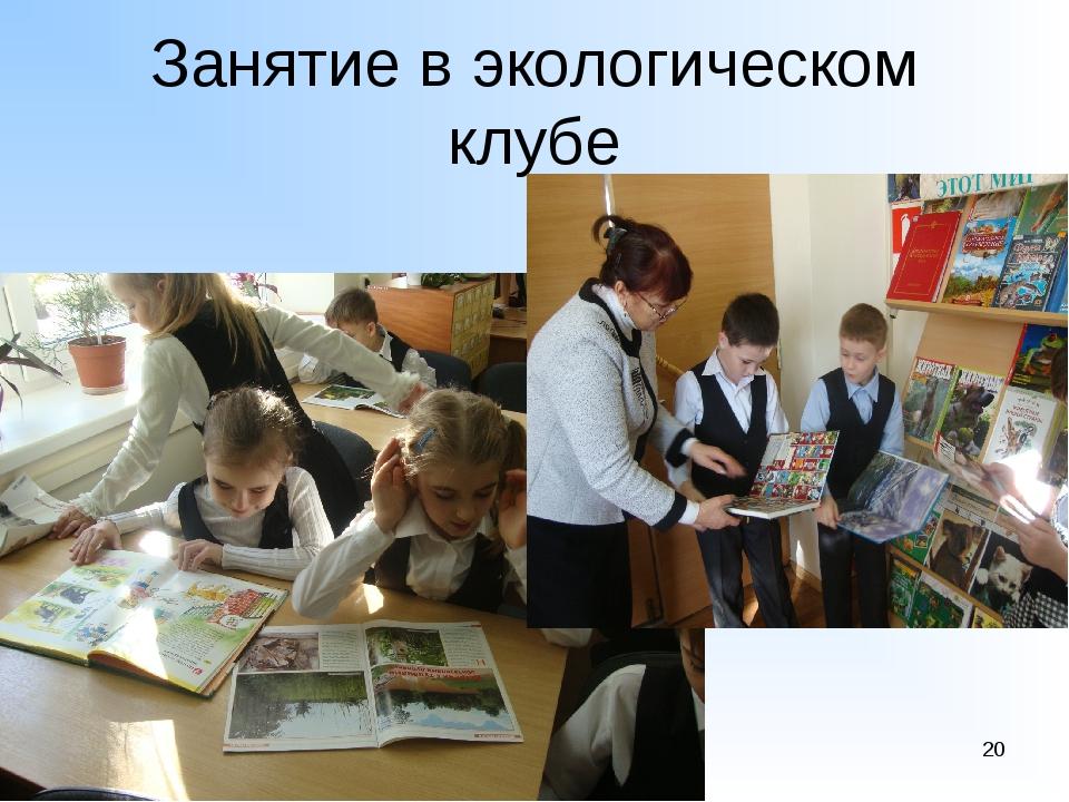 Занятие в экологическом клубе 1-6 *