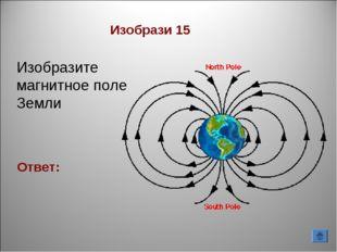 Ответ: Изобрази 15 Изобразите магнитное поле Земли