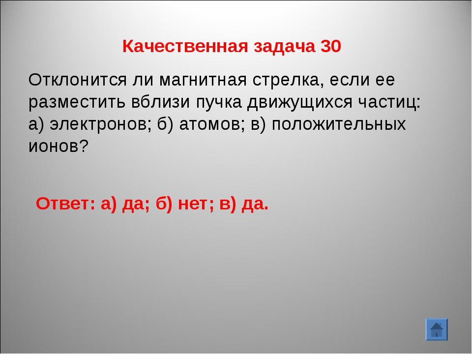 Качественная задача 30 Отклонится ли магнитная стрелка, если ее разместить вб...