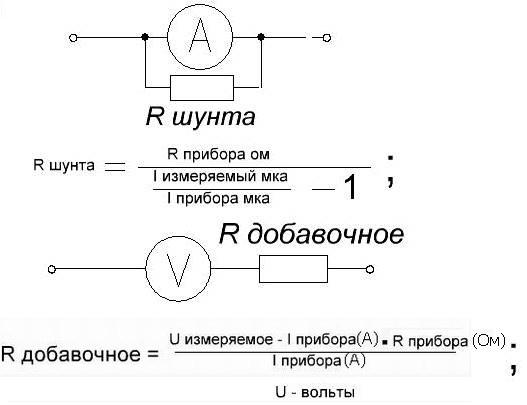 Шунтирующий резистор схема подключения
