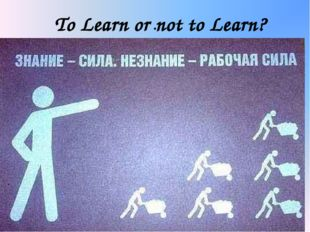 . To Learn or not to Learn?