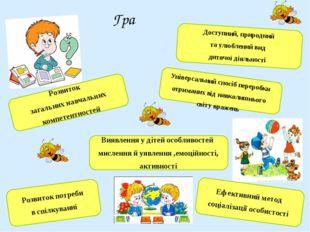 Доступний, природний та улюблений вид дитячої діяльності Розвиток потреби в с