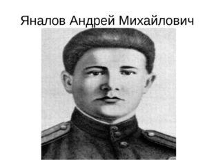 Яналов Андрей Михайлович
