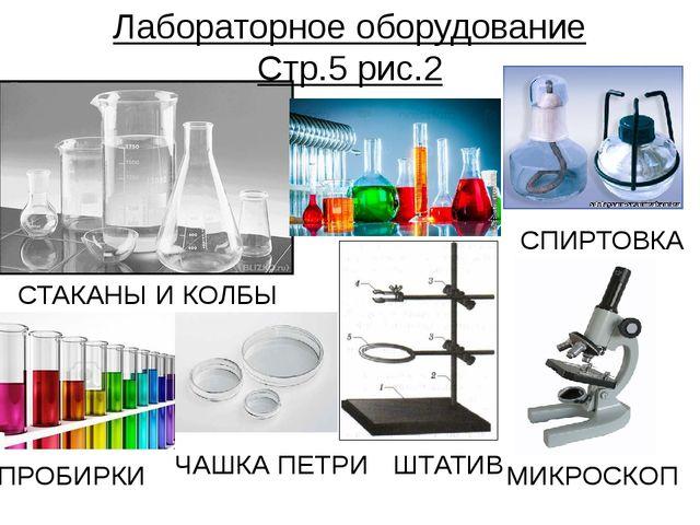 Лабораторное оборудование Стр.5 рис.2 СТАКАНЫ И КОЛБЫ ПРОБИРКИ ШТАТИВ СПИРТОВ...