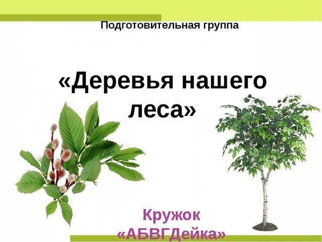 Кружок «АБВГДейка» Руководитель: Зубарева Г.В. «Деревья нашего леса» Подготов...