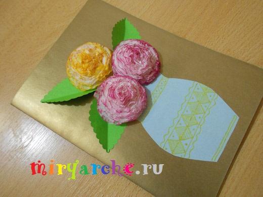 Подарок для мама на день рождения из бумаги
