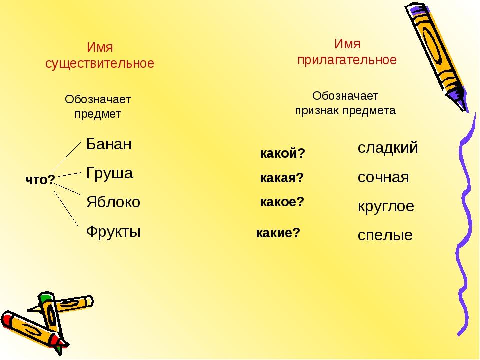 Банан Груша Яблоко Фрукты что? Имя существительное Обозначает предмет какой?...
