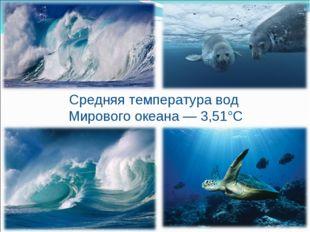 Средняя температура вод Мирового океана — 3,51°С