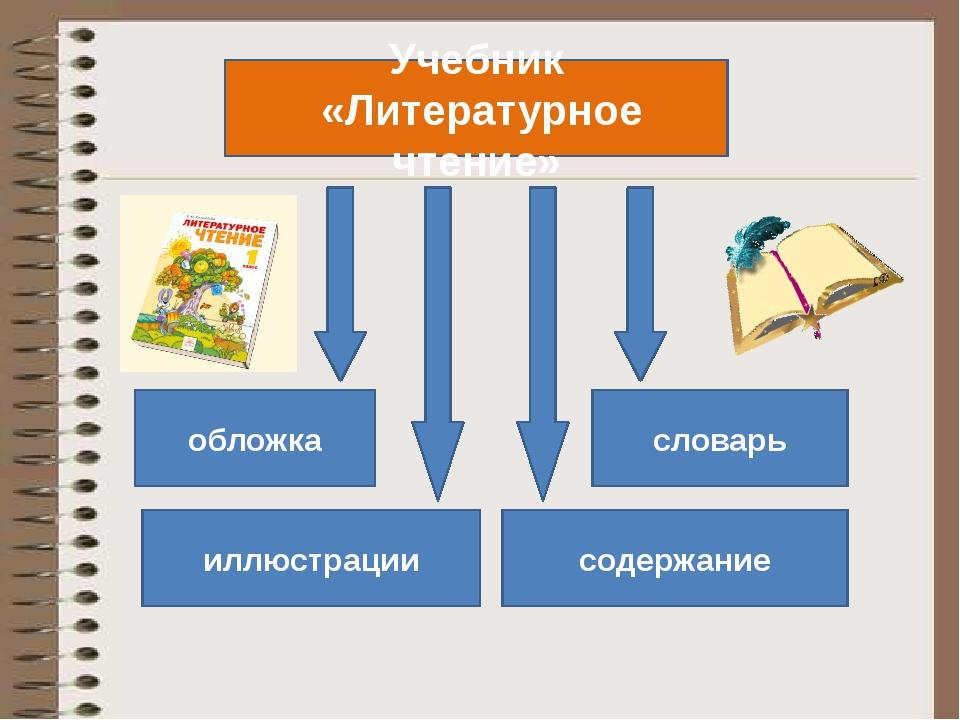 Учебник «Литературное чтение» обложка иллюстрации словарь содержание