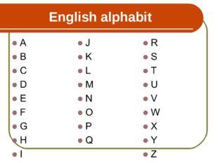 English alphabit