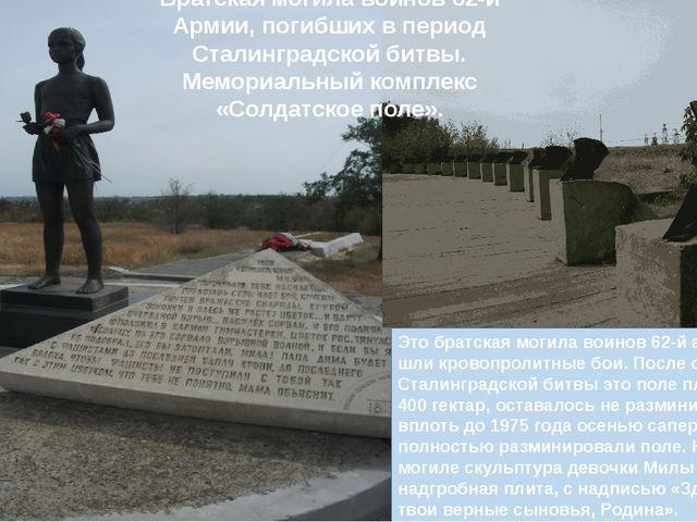 Это братская могила воинов 62-й армии здесь шли кровопролитные бои. После ок...