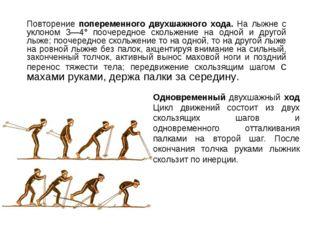 Одновременный двухшажный ход Цикл движений состоит из двух скользящих шагов и