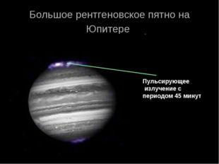 Большое рентгеновское пятно на Юпитере Пульсирующее излучение с периодом 45 м