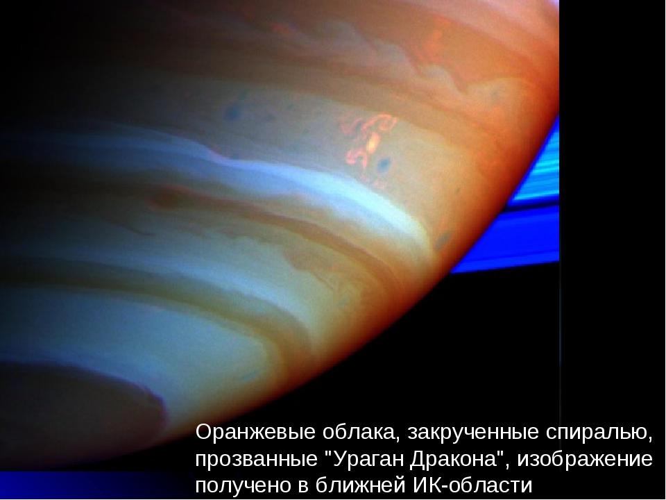 """Оранжевые облака, закрученные спиралью, прозванные """"Ураган Дракона"""", изображе..."""