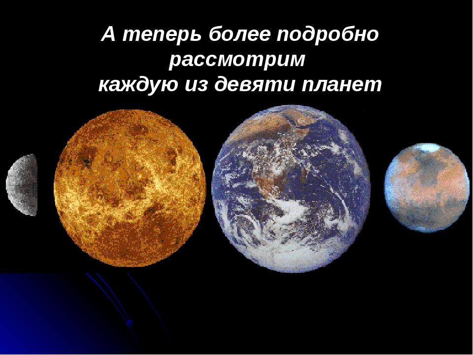 А теперь более подробно рассмотрим каждую из девяти планет
