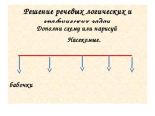 Решение речевых логических и графических задач. Дополни схему или нарисуй Нас