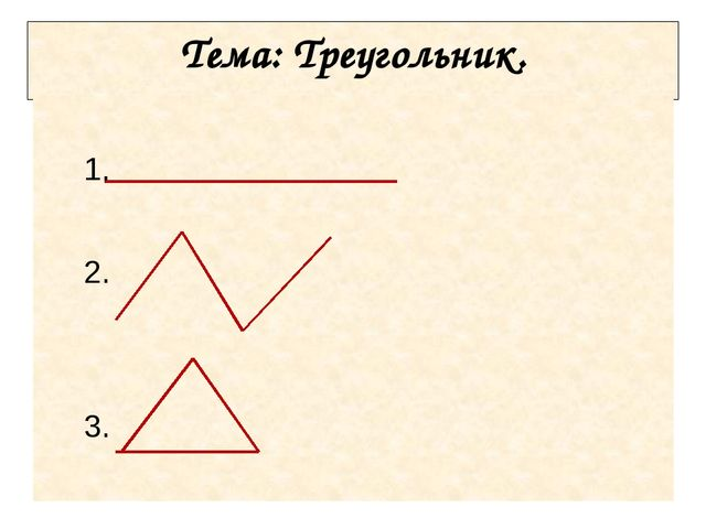 Тема: Треугольник. 1. 2. 3.