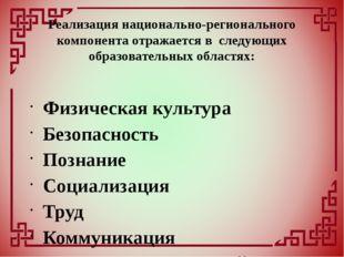 Физическая культура Безопасность Познание Социализация Труд Коммуникация Чте