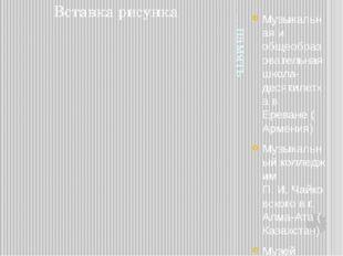 …память Музыкальная и общеобразовательная школа-десятилетка вЕреване(Армени