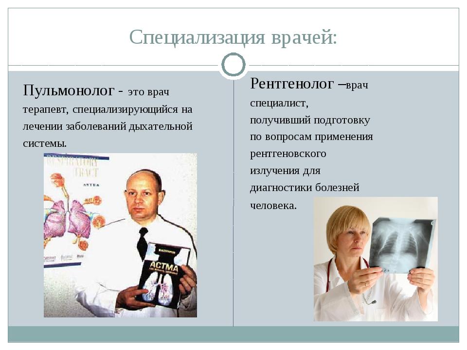 виды врачей картинки небольшого