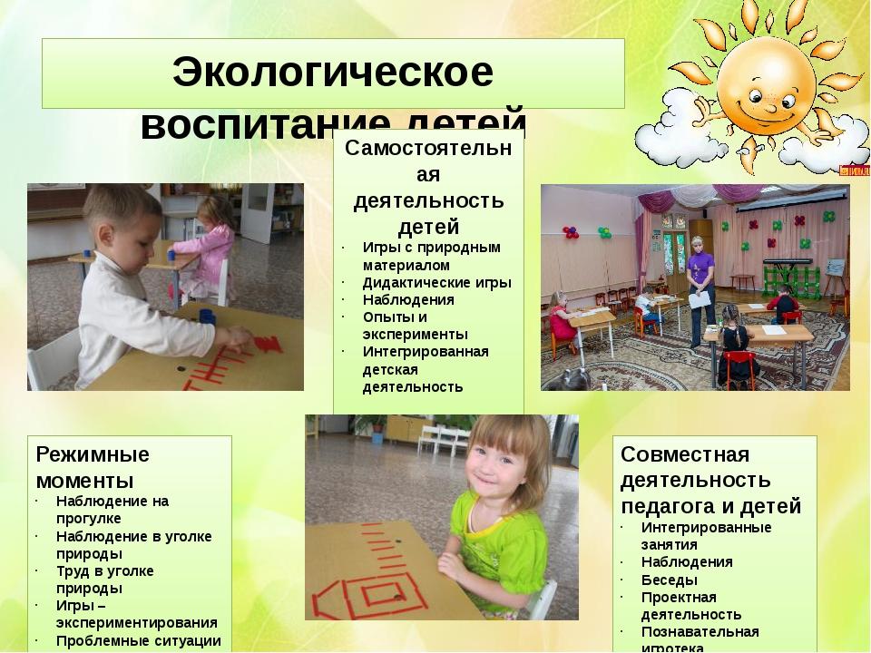 Экологическое воспитание детей Режимные моменты Наблюдение на прогулке Наблюд...
