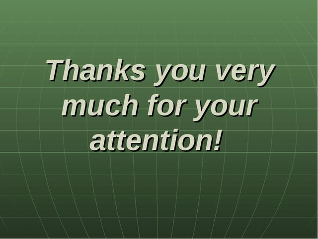 Thanks you very much for your attention!