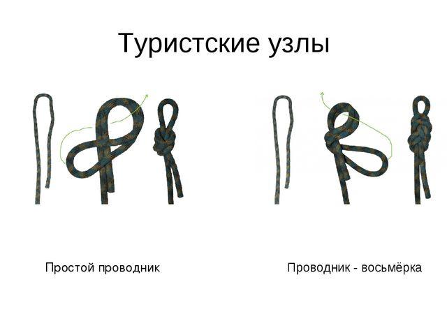 Туристские узлы Простой проводник Проводник - восьмёрка