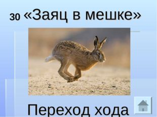 30 «Заяц в мешке» Переход хода