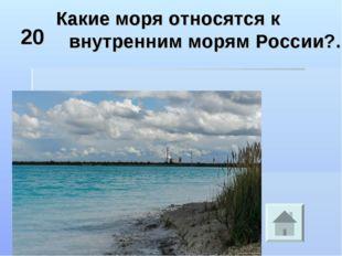 20 Какие моря относятся к внутренним морям России?.