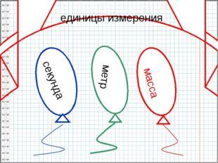 секунда метр единицы измерения масса